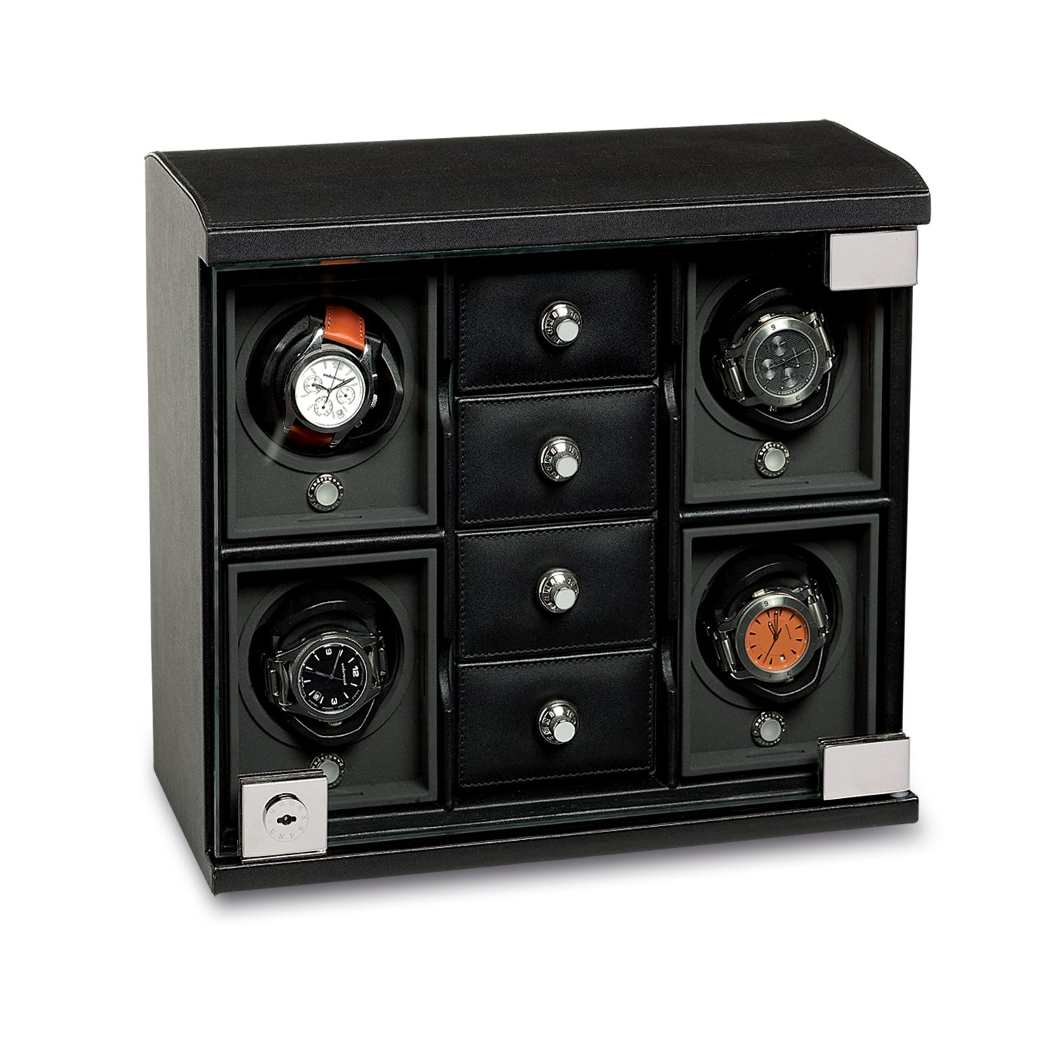 Watch-Winder-for-4-watches-with-trays