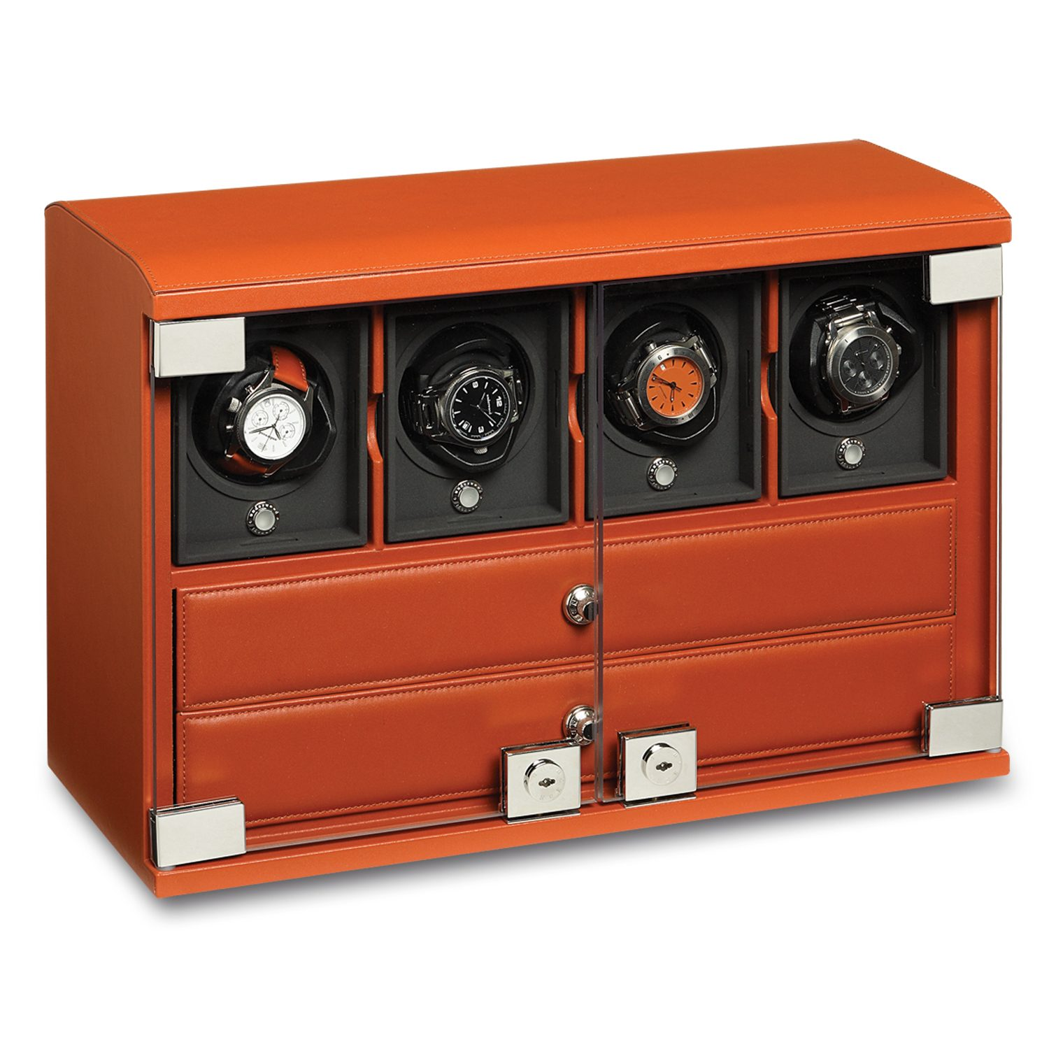 Watch-winder-for-4-watches-with-watch-storage-trays