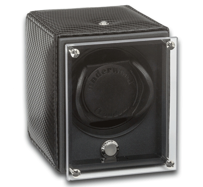 evo-single-watch-winder-with-woven-carbon-fiber-texture
